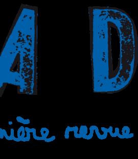 Logo DADA bleu sur fond transparent