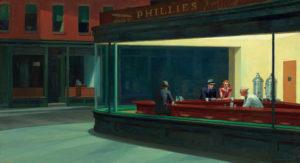 Tableau Oiseaux de nuit d'Edward Hopper