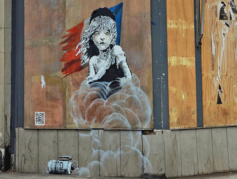 Les 12 graffitis de Banksy en France
