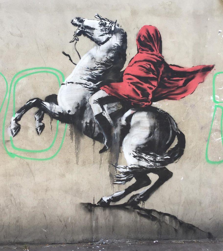 Banksy Bonaparte avenue de Flandre Paris