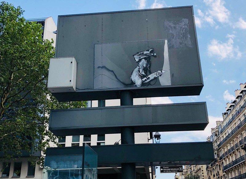 Rat Banksy Pompidou Paris
