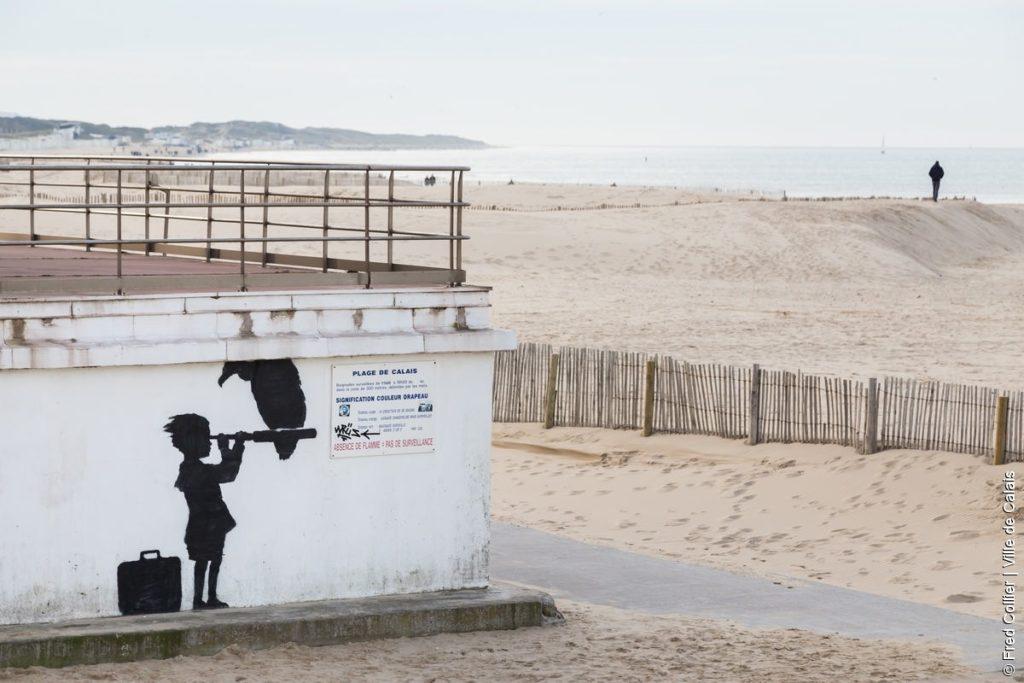 Banky petite fille plage Calais