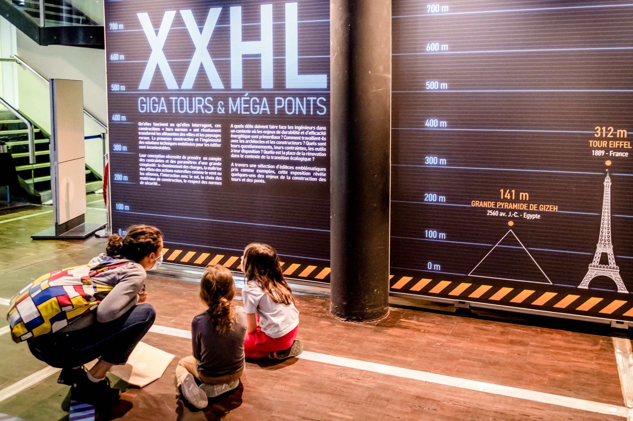 Exposition XXHL, giga tours et méga ponts, à la Cité des sciences et de l'industrie