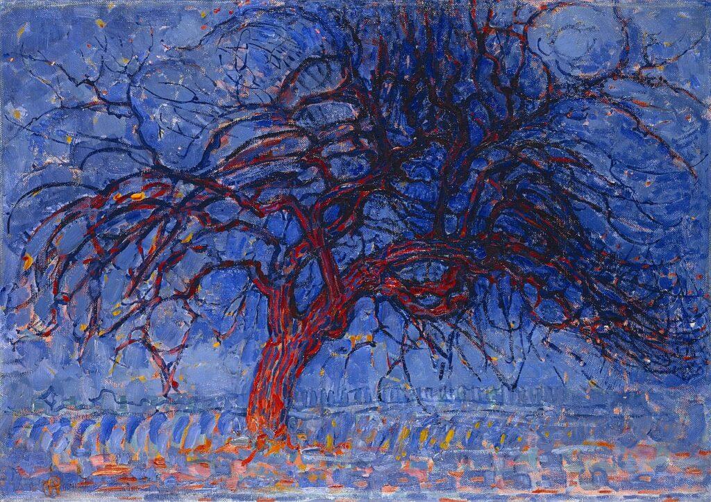 rouge et bleu Piet Mondrian, Arbre rouge