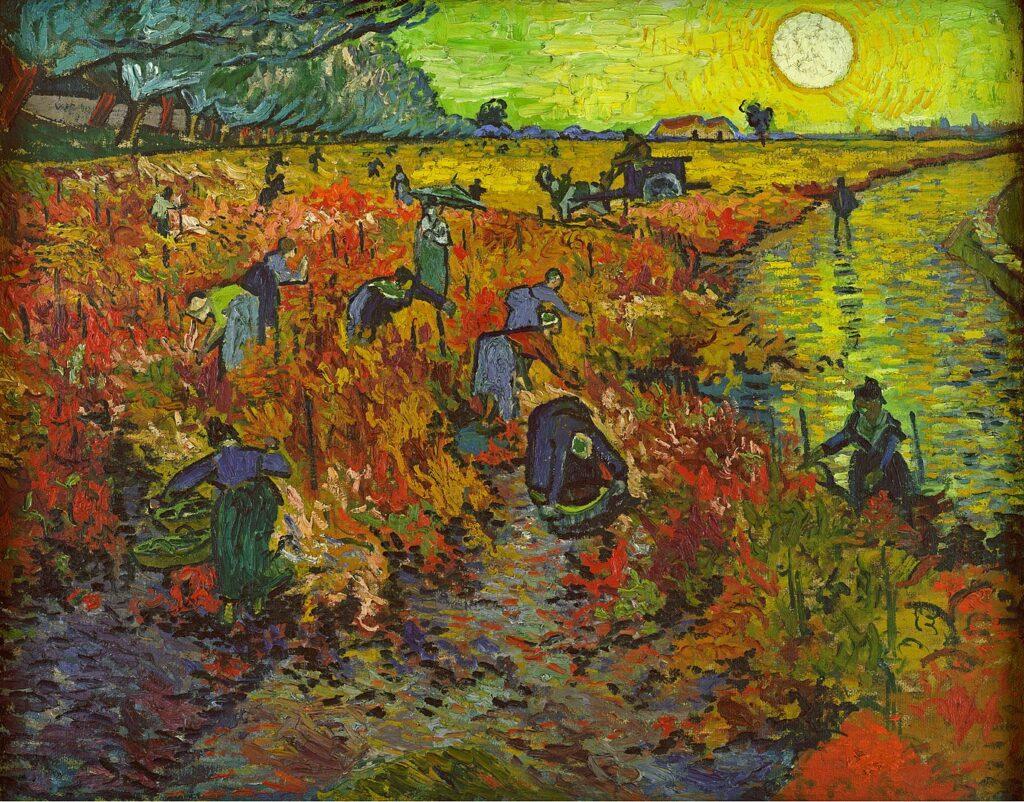 Vincent vn Gogh, La vigne rouge, 1888