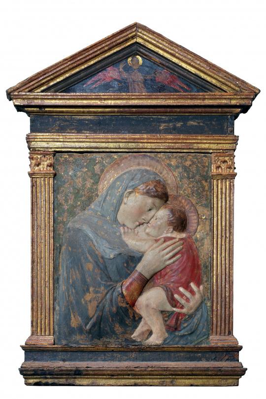 rouge et bleu Vierge à l'enfant Donatello