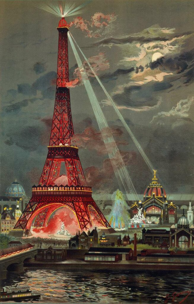 rouge et noir Georges Garen, Embrasement de la tour Eiffel