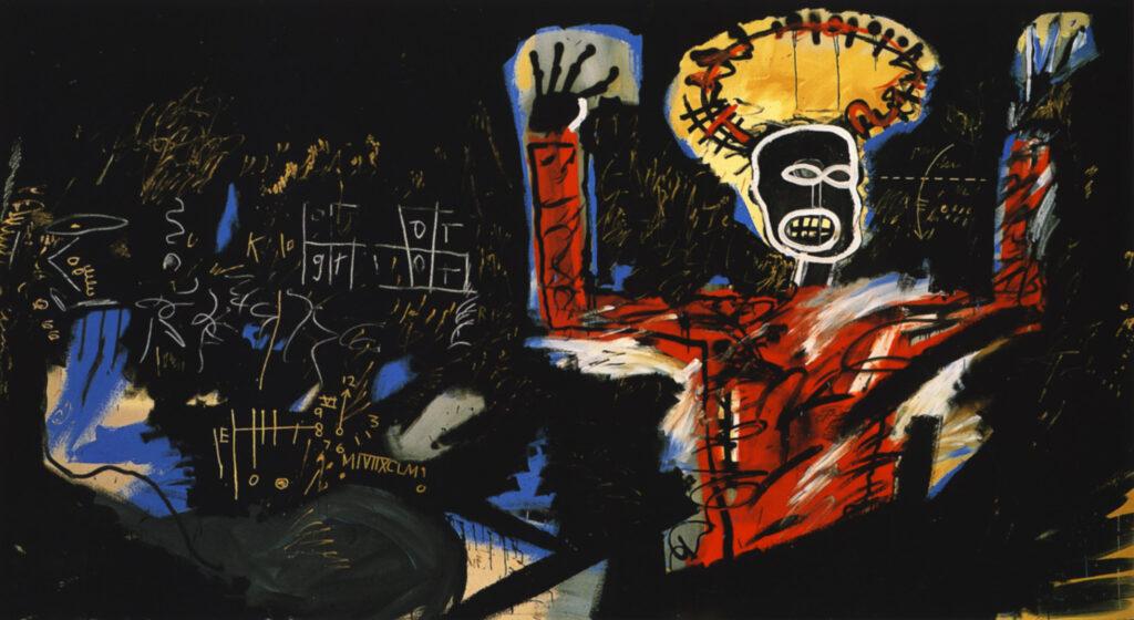 rouge et noir Basquiat