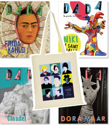 pack 4 revues DADA Artistes femmes